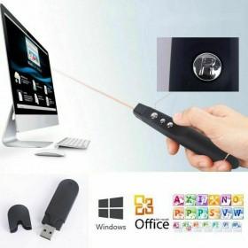 TELECOMANDO POWERPOINT USB PER PRESENTAZIONI PENNA PUNTATORE CON LASER ROSSO