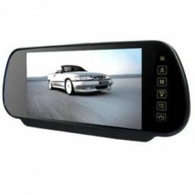 """MONITOR SPECCHIETTO LCD 7"""" INCORPORATO IN SPECCHIO RETROVISORE A COLORI USB SD"""