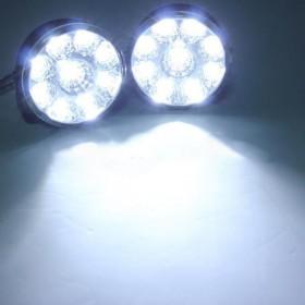 2x Faretti diurni universali daytime 9 LED