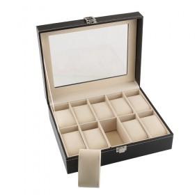 BOX COFANETTO 10 OROLOGI ESPOSITORE ORGANIZZATORE