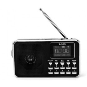 T-505 LED DISPLAY DIGITAL FM RADIO USB TF MP3 PLAYER SPEAKER PORTATILE