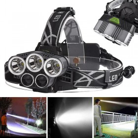 TORCIA FRONTALE CON LED CREE T6 BIANCO BLU 18650 RICARICABILE USB BL-K85 T6