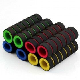 Coppia di manopole per bici multicolor