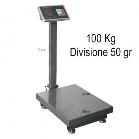 Bilancia elettronica pesa pacchi ricaricabile max 100 kg
