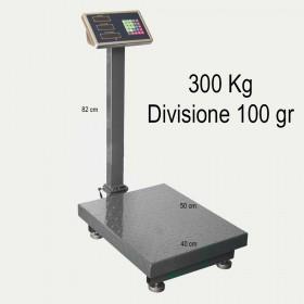 Bilancia elettronica pesa pacchi ricaricabile max 300 kg