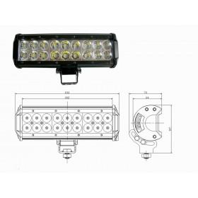 FARO TORCIA SUPPLEMENTARE LED SUV AUTO 12V 18 LED 54W 6000K IP68 ULTRA LUMINOSO