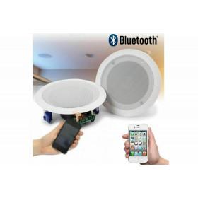 Coppia casse altoparlante audio bluetooth soffitto incasso casa 20w P8055