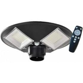 LAMPIONE LED CIRCOLARE ENERGIA SOLARE FOTOVOLTAICO ESTERNO LUCE 100W TELECOMANDO