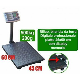 BILANCIA BASCULA BILICO INDUSTRIA ELETTRONICA LCD DIGITALE PROFESSIONALE 500 KG