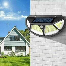 Set 2pz Lampada Faro LED Solare Faretto Sensore Movimento Luce Esterno Giardino