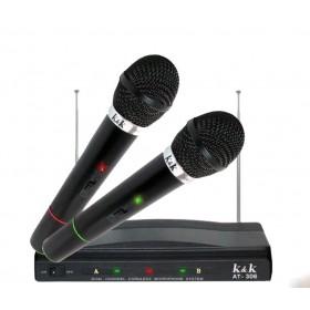Coppia microfoni wireless con centralina K&K AT-306