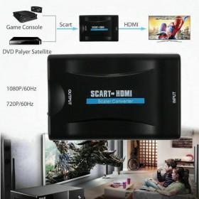 CONVERTITORE ADATTATORE DA SCART A HDMI VIDEO AUDIO STEREO 1080P HDTV XBOX PS3