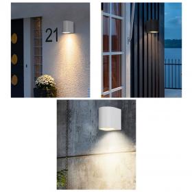 APPLIQUE LAMPADA DA ESTERNO PER PARETE COLORE BIANCO ATTACCO GU10 IP65