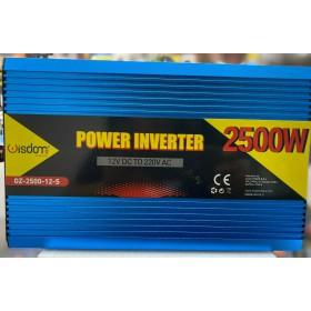 INVERTER 2500W WATT TRASFORMATORE AUTO CAMPER BARCA DC 12V AC 220V CONVERTITORE